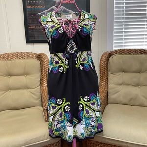 ECI pull-on dress with beaded embellishments 8